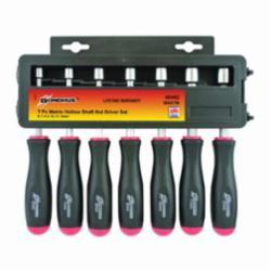 Bondhus® 48492 Nut Driver Set, Metric, 6 to 12 mm, 7 Pieces, Comfort Grip Handle, Protanium® High Torque Steel/Thermoplastic Handle, Polished Chrome