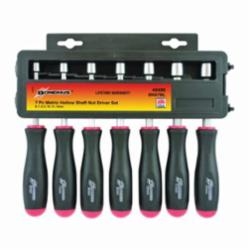 Bondhus® 48496 Nut Driver Set, Metric, 6 to 13 mm, 7 Pieces, Comfort Grip Handle, Protanium® High Torque Steel/Thermoplastic Handle, Polished Chrome