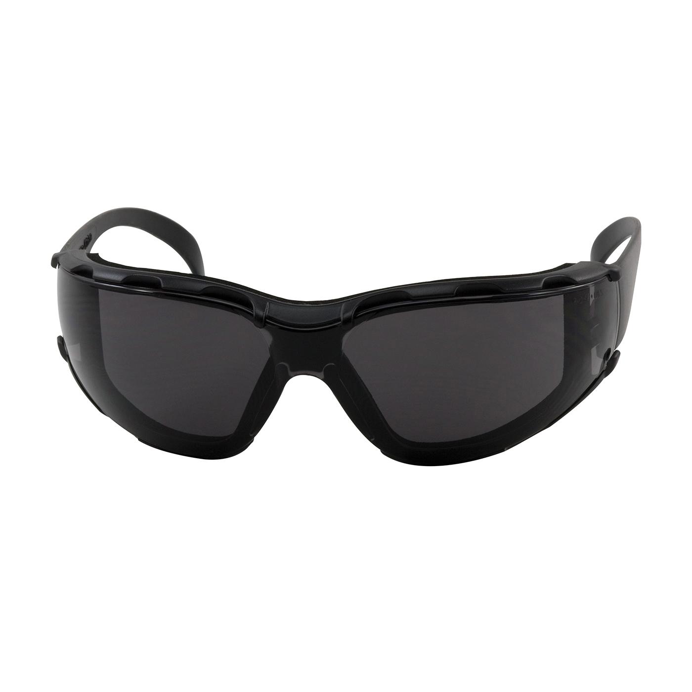 Bouton® 250-01-F021 Zenon Z12™ Foam 250-01 Single Lens Safety Glasses, Anti-Fog/Anti-Scratch, Gray Lens, Rimless Frame, Black, Polycarbonate Frame, Polycarbonate Lens, ANSI Z87.1+
