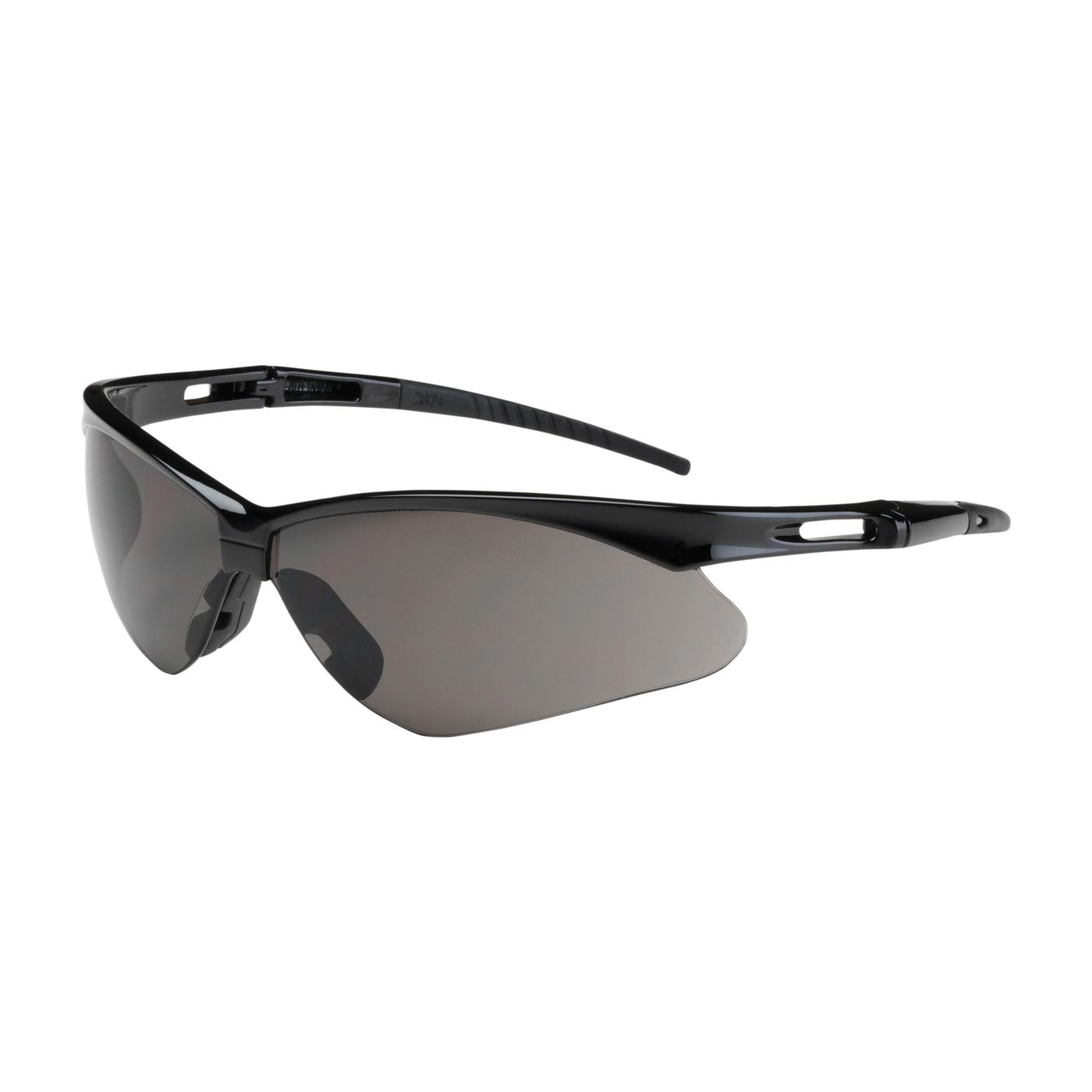 Bouton® 250-AN-10126 Anser™ 250-AN Dual Lens Safety Glasses With Adjustable Neck Cord, Anti-Fog, Gray Lens, Semi-Rimless Frame, Black, Polycarbonate Frame, Polycarbonate Lens, ANSI Z87.1+, CSA Z94.3