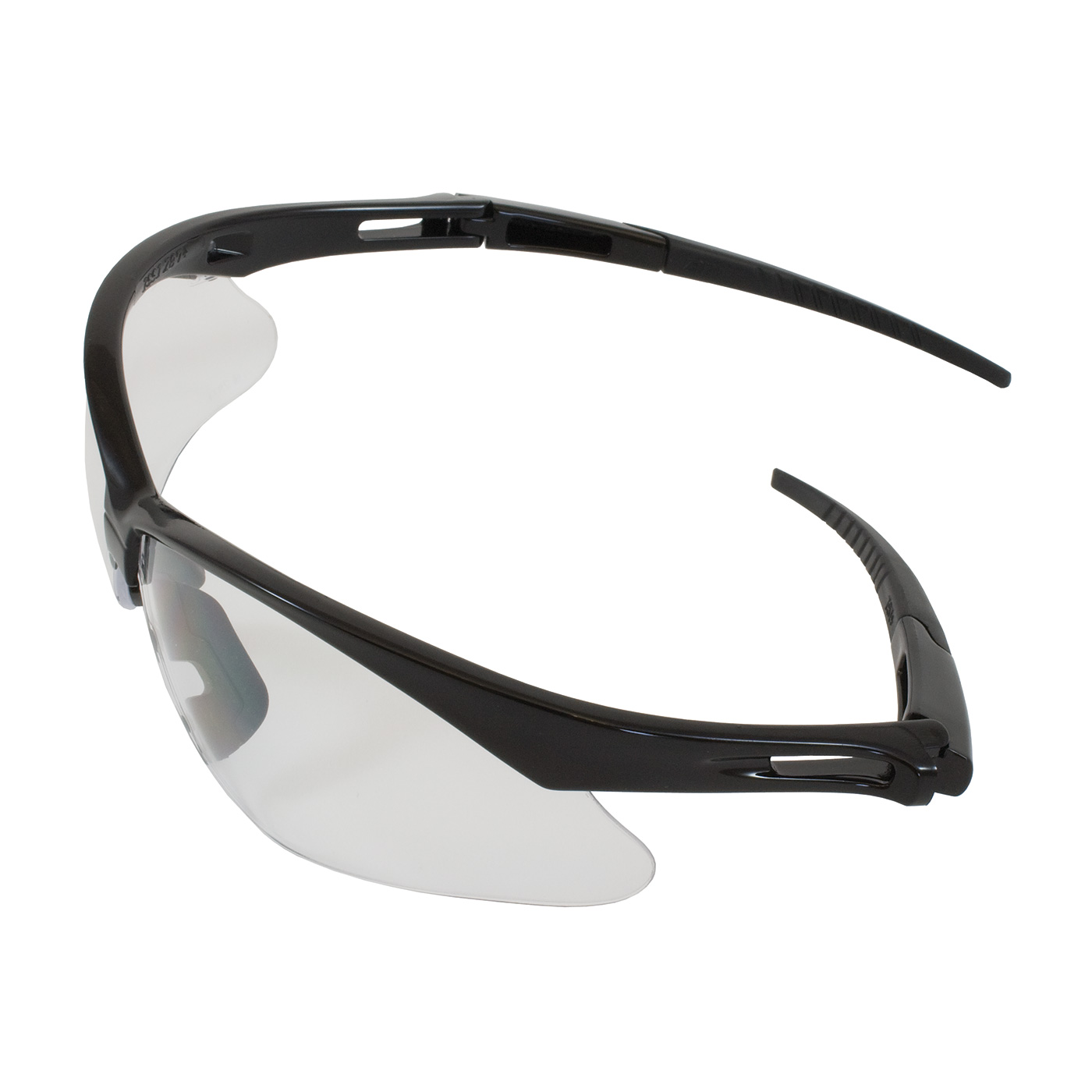 Bouton® Anser™ Optical 250-AN-10520 Dual Safety Glasses, FogLess® 3Sixty™, Clear Lens, Semi-Rimless Frame, Black, Polycarbonate/PVC Frame, Polycarbonate Lens, ANSI Z87.1-2015