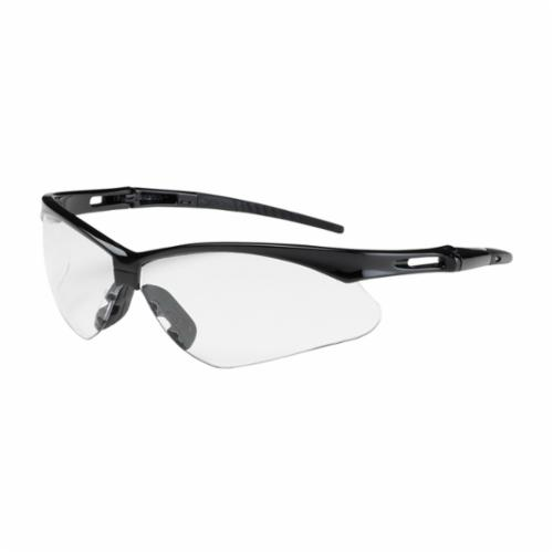 Bouton® 250-AN-10110 Anser™ Dual Lens Lightweight Protective Glasses With Adjustable Neck Cord, Anti-Scratch, Clear Lens, Semi-Rimless Frame, Black, Nylon Frame, Polycarbonate Lens, ANSI Z87.1+