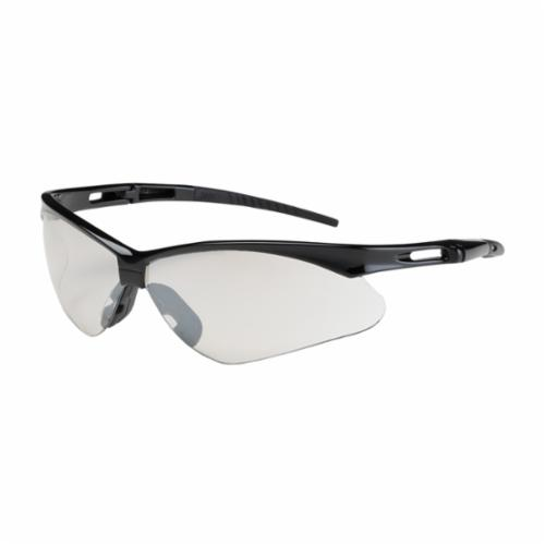 Bouton® 250-AN-10114 Anser™ Dual Lens Lightweight Protective Glasses With Adjustable Neck Cord, Anti-Scratch, Indoor/Outdoor Clear Lens, Semi-Rimless Frame, Black, Nylon Frame, Polycarbonate Lens, ANSI Z87.1+