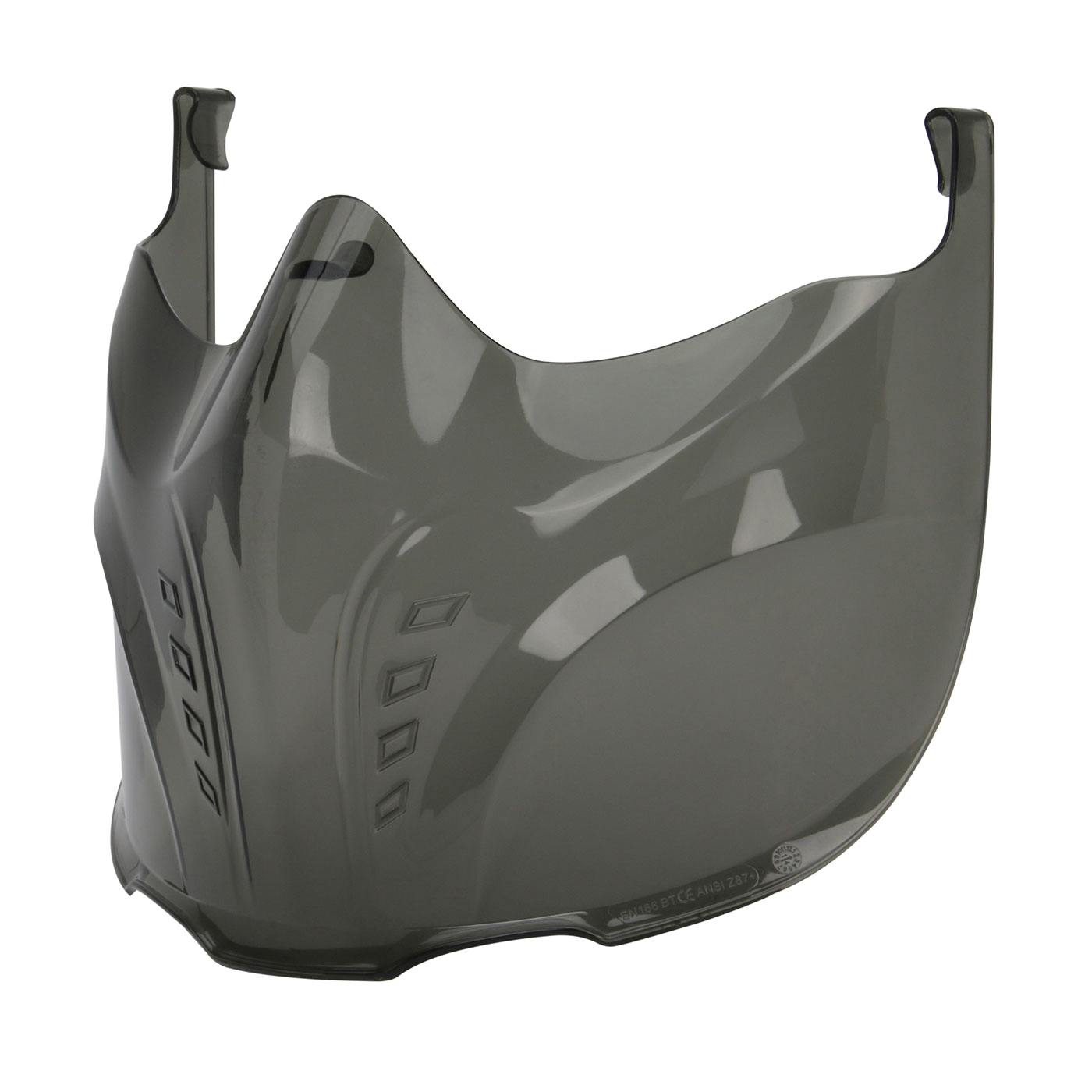 Bouton® 251-60-000V Stone™ 251-60 Safety Visor, Clear Gray, Polycarbonate, For Use With Stone™ Goggles, Specifications Met: ANSI Specified