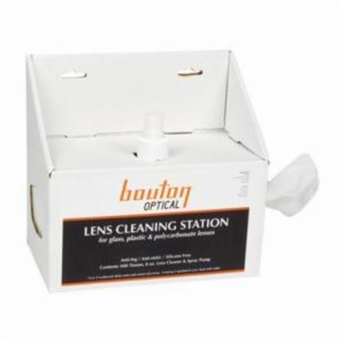 Bouton® 252-LCS08 Disposable Optical Lens Cleaning Station, Wall Mount