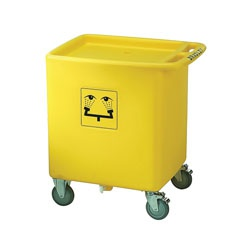Bradley® S19-399 Waste Cart, For Use With On-Site® S19-921 Portable Gravity-Fed Eye Wash, Specifications Met: ANSI/ISEA Z358.1-2014