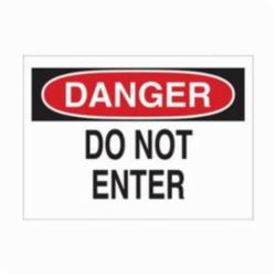 Brady® 22433 Rectangle Admittance Sign, DANGER, 7 in H x 10 in W, Black/Red on white, B-401 Plastic, Surface Mounting
