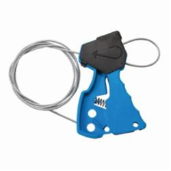 Brady® 45191 Mechanical Risk Original Pull-Tight Cable Lockout, 1/8 in Dia x 6 ft L Silver Galvanized Steel Cable, 1 Padlocks, Blue, 0.31 in Padlock Shackle Maximum Diameter, LOTO-37 Nylon Body