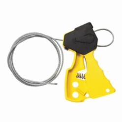 Brady® 45192 Mechanical Risk Original Pull-Tight Cable Lockout, 1/8 in Dia x 6 ft L Silver Galvanized Steel Cable, 1 Padlocks, Yellow, 0.31 in Padlock Shackle Maximum Diameter, LOTO-37 Nylon Body