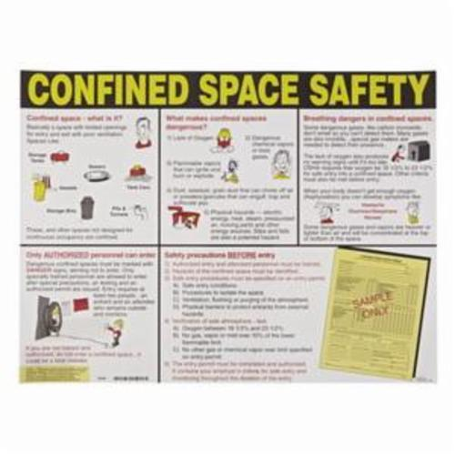 Brady® 50344 Safety Poster, 18 in H x 24 in W, Multi-Color, Laminated Paper