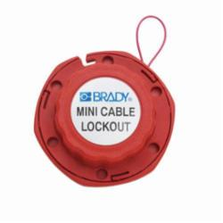 Brady® 50940 Mini Cable Lockout, 1/16 in Dia x 8 ft L Vinyl Coated Steel Cable, 6 Padlocks, Red, 0.31 in Padlock Shackle Maximum Diameter, LOTO-38 Glass Filled Nylon Body, Legend: DANGER LOCKED OUT DO NOT REMOVE