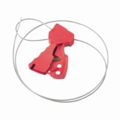 Brady® 65318 Original Cable Lockout, 1/8 in Dia x 6 ft L Nylon Cable, 1 Padlocks, Red Body/Silver Cable, 0.31 in Padlock Shackle Maximum Diameter, LOTO-37 Nylon Body