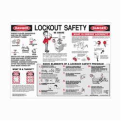 Brady® Prinzing® LOSP8 Laminated Rectangular Safety Poster, English, LOCKOUT SAFETY, 24 in W