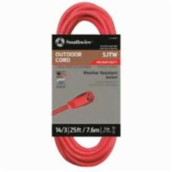 CCI® 02407 SJTW Extension Cord With Lighted End, 15 A/125 VAC, 14/3 AWG, 25 ft L Cord