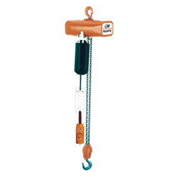 Coffing® Hoists Valustar™ 2409B Model WR Double Reeving Electric Chain Hoist, 2 ton Load, 15 ft H Lifting, 115 VAC