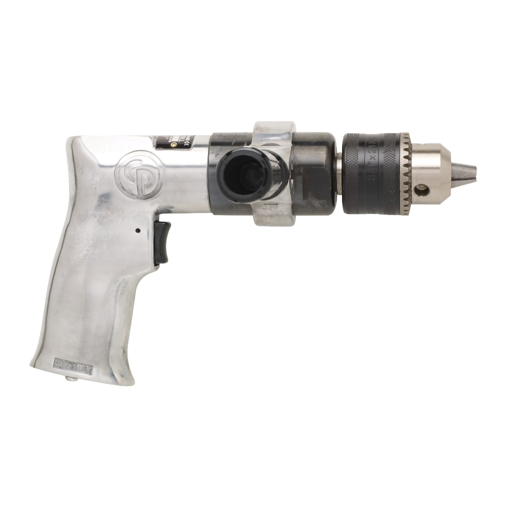 CP T024134 Pneumatic Drill, 1/2 in Chuck, 1/2 hp, 12 to 31.78 cfm Air Flow, 7.8 in OAL