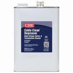 CRC® 02066 Cable Clean® Heavy Duty High Voltage Non-Flammable Non-Chlorinated Splice Cleaner Degreaser, 1 gal Can, Strong Solvent Odor/Scent, Clear, Liquid