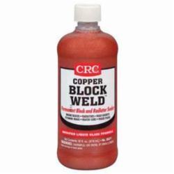 CRC® 05371 Copper Block Weld™ Non-Flammable Permanent Block/Radiator Sealer, 16 oz Bottle, Slight Soap Odor/Scent, Colorless, Liquid With Metallic Copper Suspension