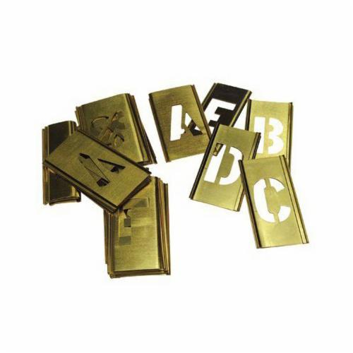 C.H.Hanson® 10167 33-Piece Interlocking Reusable Oversized Letter Stencil Set, 12 in H, Gold, 28 ga Brass