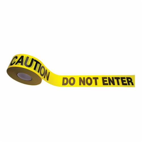 C.H.Hanson® 15014 Heavy Duty Barricade Safety Tape, Caution Men Working, 3 in W x 1000 ft L, Red/Black, Polyethylene