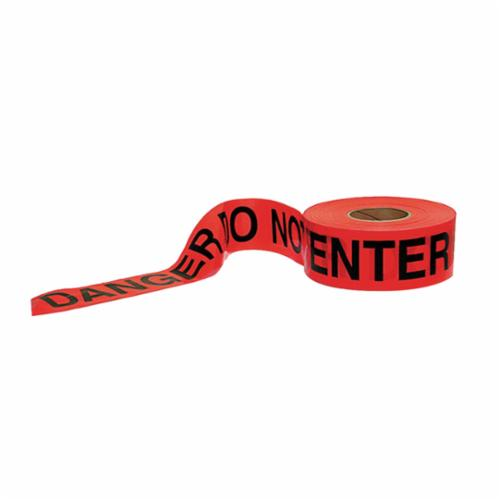 C.H.Hanson® 15041 Heavy Duty Barricade Safety Tape, Red/Black, 1000 ft L x 3 in W, Danger Do Not Enter Legend, Polyethylene