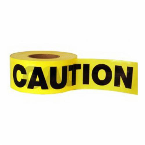C.H.Hanson® 16000 Standard Grade Barricade Safety Tape, Yellow, 1000 ft L x 3 in W, Caution Legend, PVC