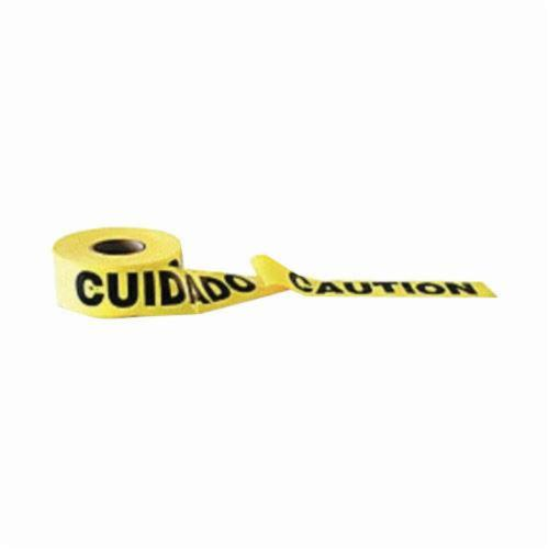 C.H.Hanson® 16002 Standard Grade Barricade Safety Tape, Yellow, 1000 ft L x 3 in W, Caution Cuidado Legend
