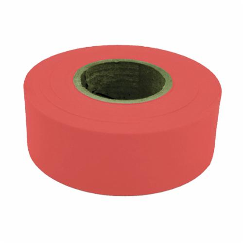 C.H.Hanson® 17021 Flagging Tape, Standard Red, 300 ft L x 1-3/16 in W, Polyethylene
