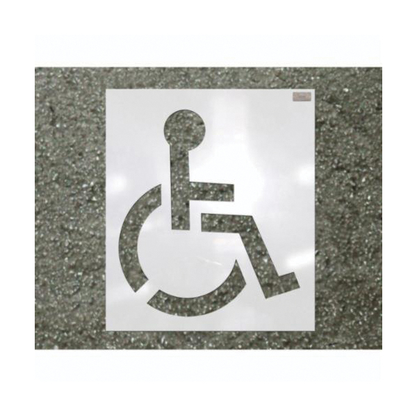 C.H.Hanson® 70342 Heavy Duty Handicap Stencil, 34 in H, White, Low Density Polyethylene
