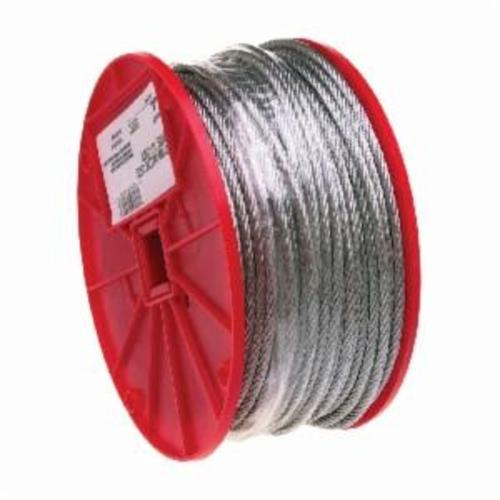 Campbell® 7000227 High Strength Cable, 1/16 in Cable, 500 ft L, 7 x 7 Strand, 96 lb Load, Galvanized Steel