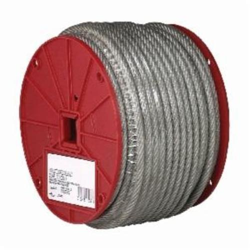 Campbell® 7000497 High Strength Coated Cable, 1/8 in Cable, 250 ft L, 7 x 7 Strand, 340 lb Load, Galvanized Steel