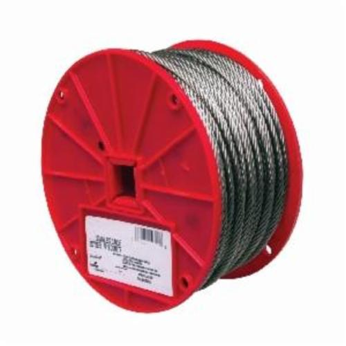 Campbell® 7000426 High Strength Cable, 1/8 in Cable, 250 ft L, 7 x 7 Strand, 340 lb Load, 304 Stainless Steel