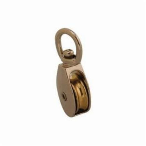Covert T7655012 Single Sheave Chain Rope Pulley, Fiber Rope Cable, 5/16 in, 30 lb Load, 1 in OD
