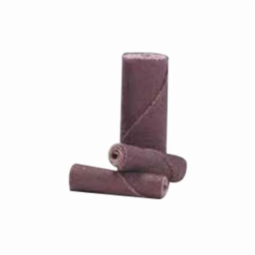 Merit® 08834180157 M-9 Coated Cartridge Roll, 5/16 in Dia x 1-1/2 in OAL, 1/8 in Pilot Hole, 80 Grit, Aluminum Oxide Abrasive