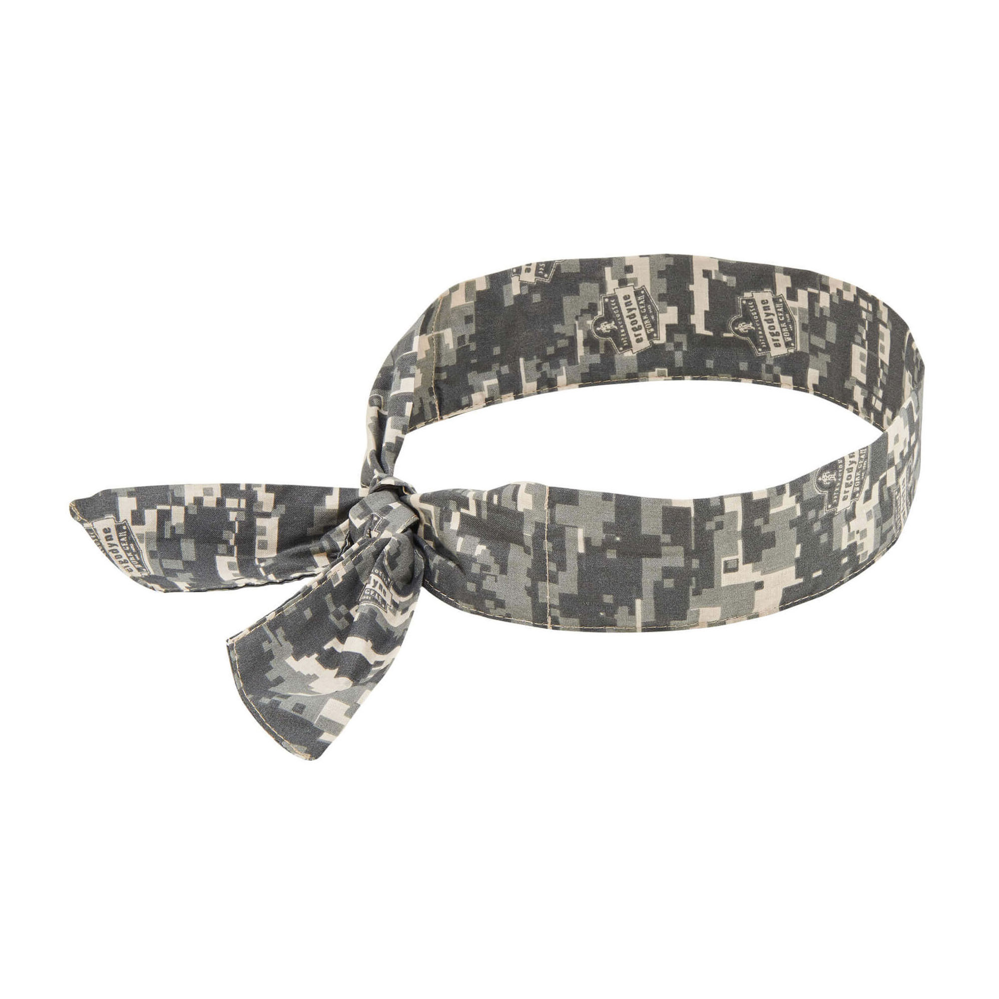 Chill-Its® 12304 6700 Evaporative Cooling Bandana, Universal, Camo, Polymer, Tie Closure