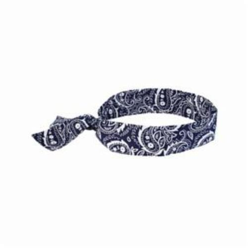 Chill-Its® 12306 6700 Evaporative Cooling Bandana, Universal, Navy Western, Polymer, Tie Closure