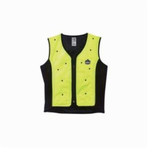 Ergodyne® Chill-Its® 6685 Dry Evaporative Cooling Vest, Lime, Shell Fabric/50% Polyester/50% Polyurethane, Zipper Closure