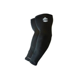 Chill-Its® 12383 6690 Cooling Arm Sleeves, M, Knit Fabric, Black