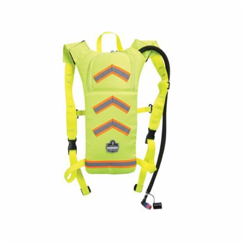 Chill-Its® 13156 5155HV Low Profile Hydration Pack, 2 L/70 oz/2.2 hr, 600D Polyester Shell/EVA Reservoir, Hi-Viz Lime, Zipper Closure