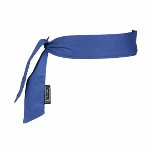 Chill-Its® 12307 6700 Evaporative Cooling Bandana, Universal, Blue, Polymer, Tie Closure