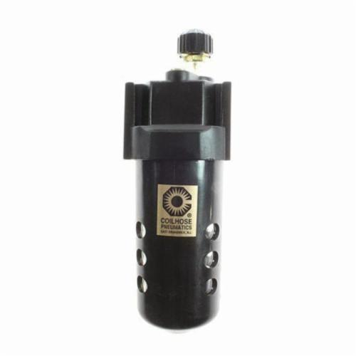 Coilhose® 27L4 Series 27 Modular Compressed Air Lubricator, 1/2 in NPT Port, 160 cfm Flow Rate, 150 psi Pressure, Polycarbonate Bowl