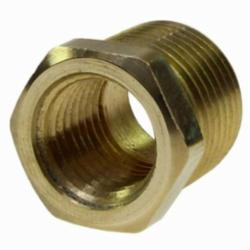 Coilhose® B20806 Hex Reducer Bushing, 1/2 x 3/8 in, MPT x FPT, Brass, Domestic