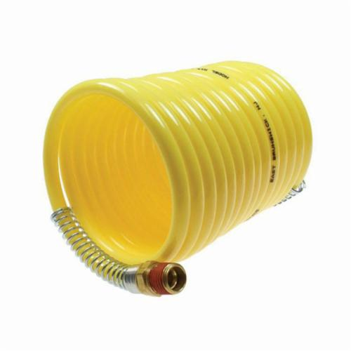 Coilhose® N12-25B Coiled Air Hose, 1/2 in Nominal, 1/2 in MPT Swivel End Style, 25 ft L, 170 psi at 70 deg F Working, Nylon, Domestic