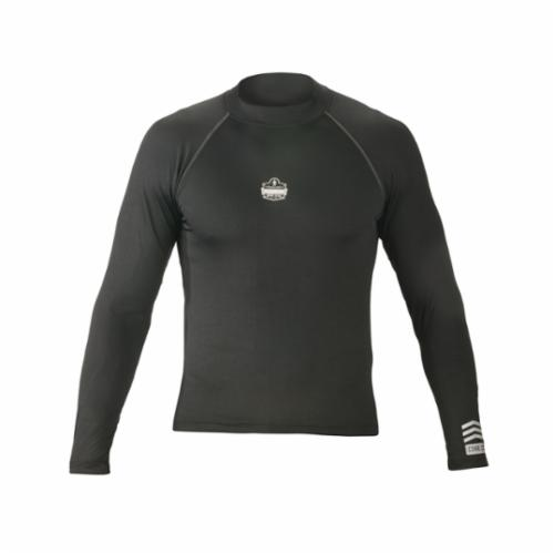 Core Performance Work Wear® 40204 6435 Long Sleeve Thermal Shirt With Flat Seams, L, Black, Polyester