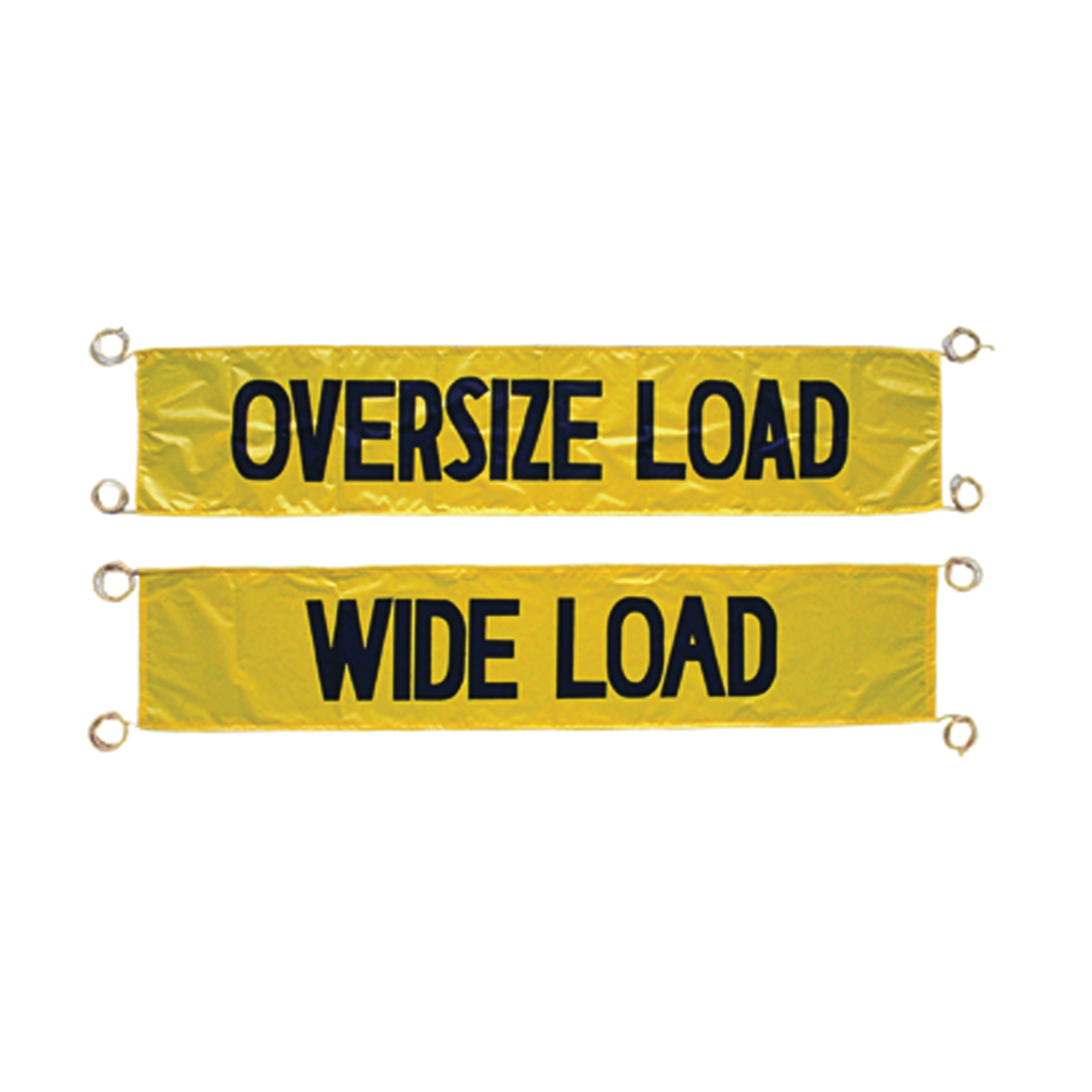 Cortina® 03-11-000 Highway Banner, 18 in H x 96 in W, Black on Yellow, Vinyl