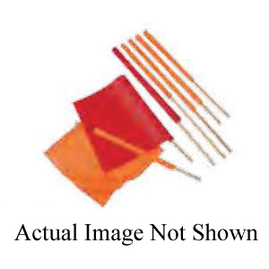 Cortina® 03-229-3404 Heavy Duty Warning Flag With 3/4 x 30 in Wooden Dowel, 18 in H x 18 in W, Orange, Reinforced Vinyl