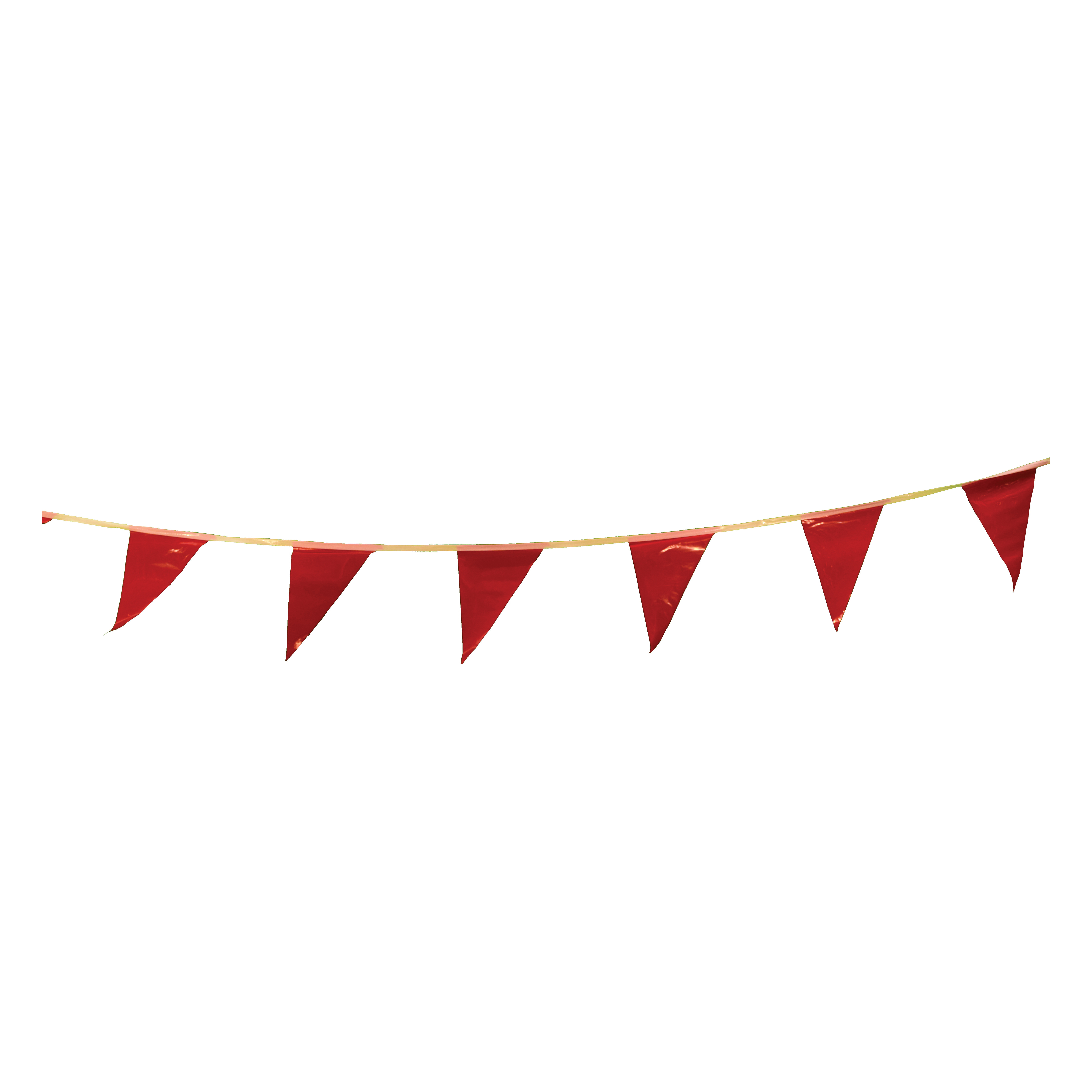 Cortina® 03-400 Pennant, 12 in H x 9 in W, 100 ft OAL, Red, Vinyl