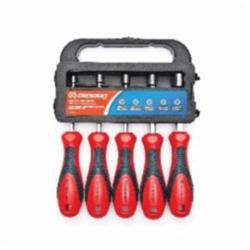 Crescent® CND5SAE Nut Driver Set, Imperial, 1/4 to 7/16 in, 5 Pieces, 7-1/4 in OAL, Cushion Grip Handle, Plastic Handle/Steel Shank, Polished Chrome