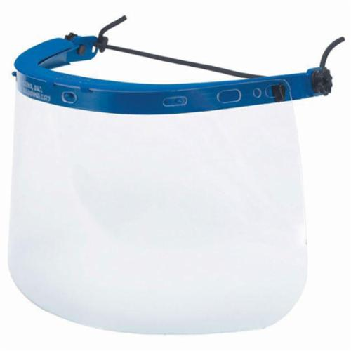 Crews 101 Dielectric Faceshield Headgear, Blue, Nylon Frame/Rubber Strap, For Use With Hard Hat