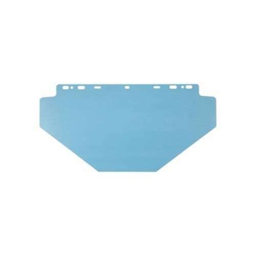 Crews 102040PC Faceshield Visor, Clear, Polycarbonate, 10 in H x 15-1/2 in W x 0.04 in THK Visor, For Use With Universal Brackets